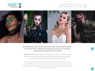 wordpress website developed for makeup artist