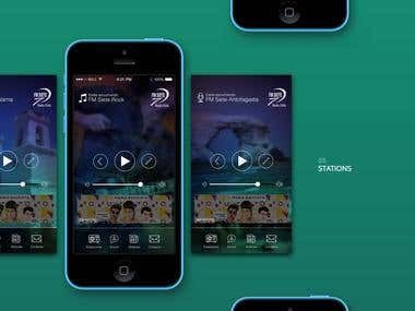 Fm Siete mobile design