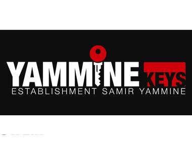 Yammine Keys Logo Design