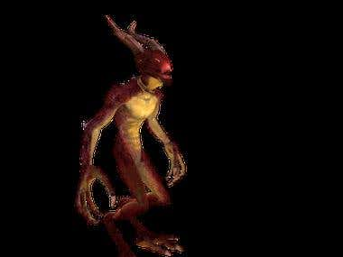 3D Monsters (Modelling, animation and Rigging)
