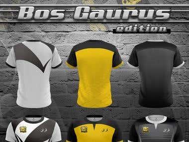 Jersey design, emblem (bull) design, poster design