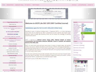 International Journal website Design