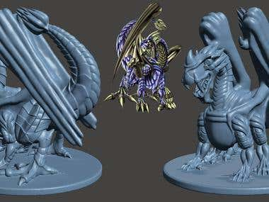 THUNDER DRAGON 3D PRINT READY 3D MODEL FOR KAIJU CONQUEST.