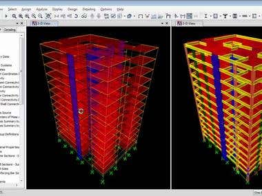 High Rise Building Design in Etabs software program