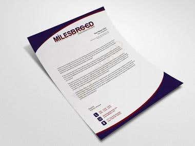 Letterhead Design (Client + Portfolio)