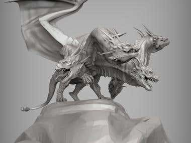 Concept Dragon 3D Modeling/Scuplting