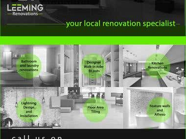 Leeming Renovations Flyer