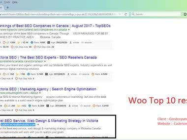 Best SEO service is on 1st page Canada