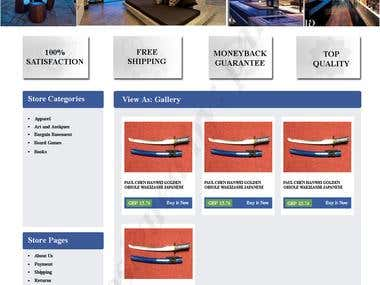eBay store design and Listing template
