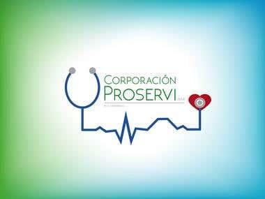 Corporación Proservi - Venta de Material Medico (Logo Design