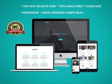 PSD TO HTML,WORDPRESS WITH RESPONSIVE
