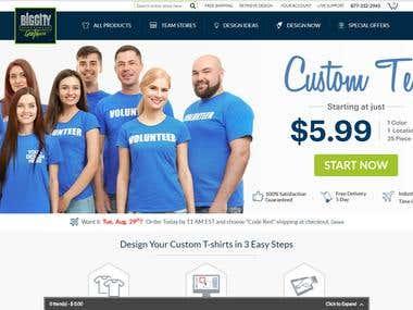 BigCity: Custom Tshirts e-Commerce Website