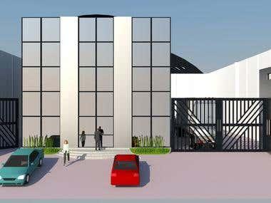 Modelo 3D Edificio Corporativo