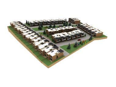 Modelo 3D Urbanización