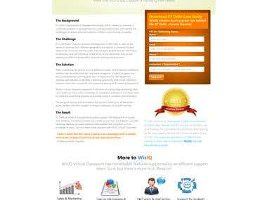 WizIQ Landing Page Design