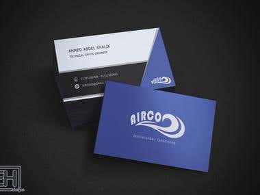 Airco company logo and business card gesign