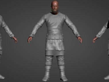 Rangar Lothbrok 3D modeling/Texturing