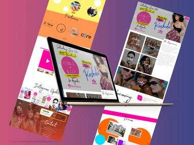 Creative website design and development