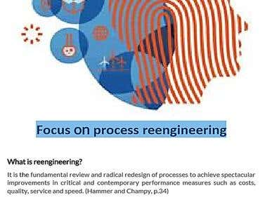 Focus on process reengineering