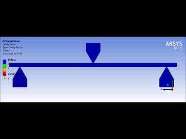 ANSYS Mechanics Beam Analysis