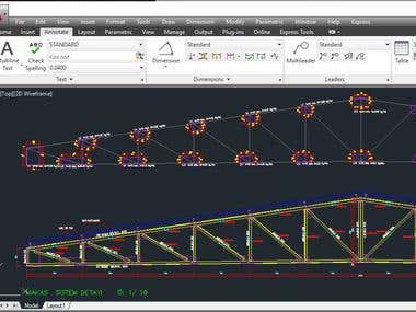 steel construction drawing