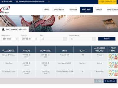 Wordpress plug in Port info for Logistic website
