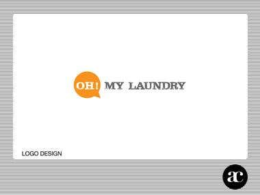 """Oh! My laundry"" Logo Design"