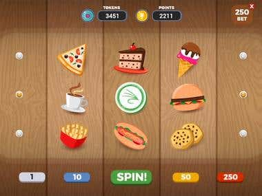 Food slots animation