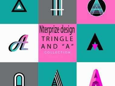 """Triangle and """"A"""" Logos"""