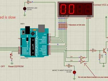 Time based medical machine controller using arduino