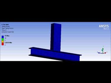 ANSYS Mechanics Tie Joint