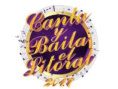 Logotipo para certamen de canto coral y baile