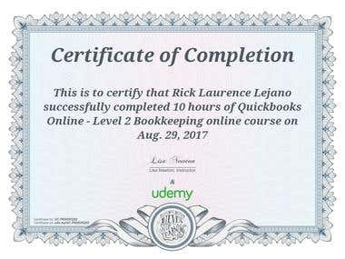 Quickbooks Online - Level 2 Bookkeeping