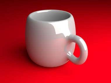 Realistic 3D Coffee Mug