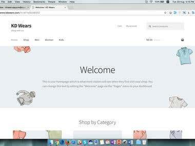 Online Shopping Site (Sample Work)