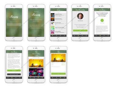 Serenity - iOS App Design UI/UX