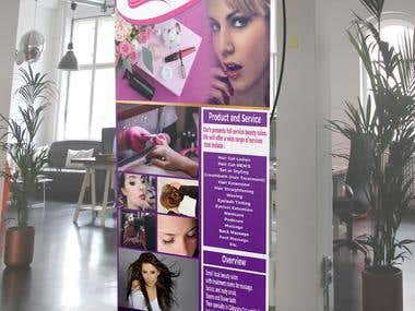 BANNER STANDING, ROLL-UP BANNER, BILLBOARD BANNER