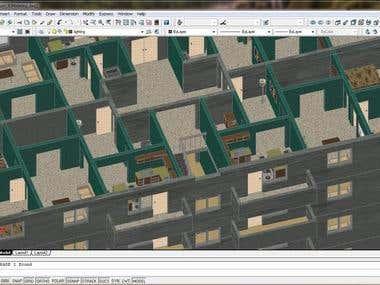 3D Modeling of multi story building