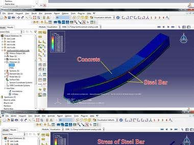 Analysis of reinforcement concrete in ABAQUS