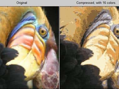 Image comression with clasterization in Matlab