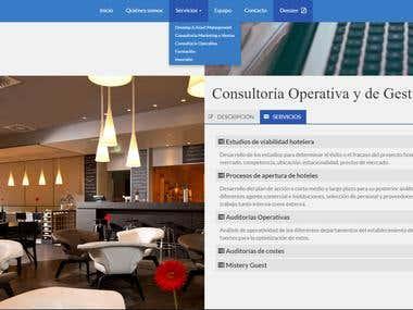 Diseño y maquetación web Gestintur