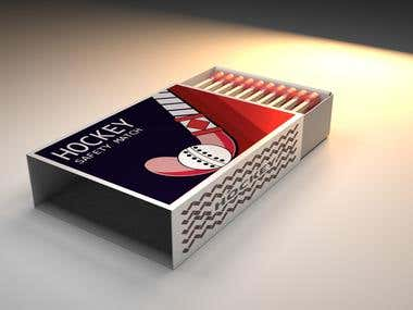 Hockey Match Box 3D Modeling for Client