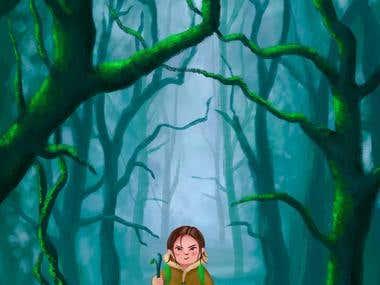 Children illustration: I'm not afraid