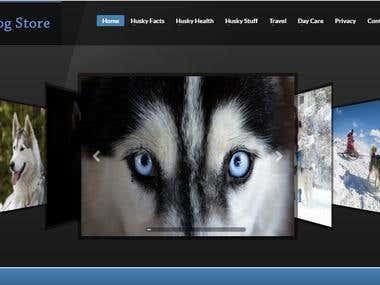 Husky Dog Store Website