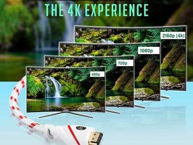 Amazon Hdmi Cable Ad post Design