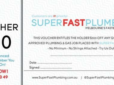 Voucher for SuperFastPlumbing