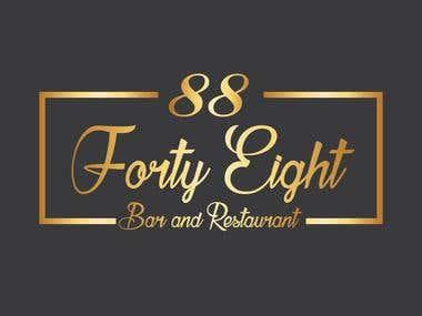 Logo Design - 8848 Bar and Restaurant