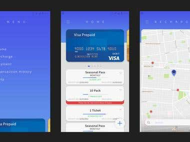 NFC card app design