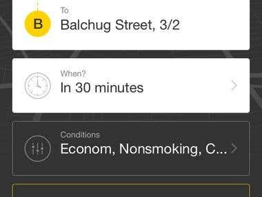 Uber like - taxt app