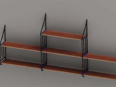 Decoration Rack Rendering and modelling